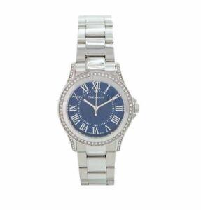Womens Wristwatch REBECCA AGEOBD09 Stainless Steel Swarovski Blue SWISS MADE