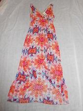 Women's Romeo & Juliet Pink Orange Purple Geometric Sleeveless Dress Size M NWT