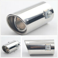 DIY Chrome Car Exhaust Muffler Pipe Modified Tail Throat Liner Bevel Accessories