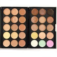 2 Set Face Contour Kit Highlighter Makeup Kit 15 Colour Cream Concealer Palette