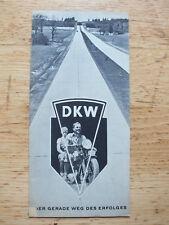 Original Prospekt - DKW Motorräder - 30er Jahre - RT - KS - SB - Sport