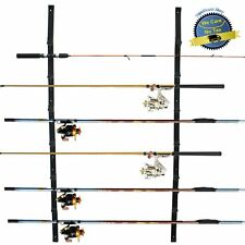 Fishing Rod Holder Rack Storage Organizer Ceiling Wall Mount 6 Positions Rods