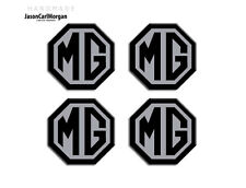 MG ZT Wheel Centre Caps Badges 01-05 Year Hub Cap badges In Black & Silver 45mm