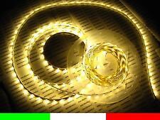 5m LED STRIP STRISCIA ADESIVA FLESSIBILE LUCE BIANCO CALDO WARM 300 smd3528 C1F3