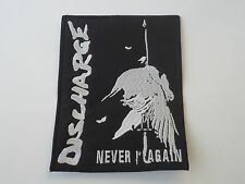 DISCHARGE NEVER AGAIN EMBROIDERED PATCH