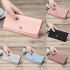 Women PU Leather Wallet Lady Long Card Coin Holder Handbag Bag Clutch Purse NEW