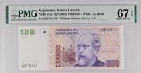 Argentina 100 Pesos ND 2003 Series C - S P 357 a Superb Gem UNC PMG 67 EPQ Top