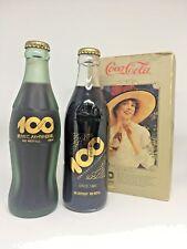 1986 Japan 100 Centennial Celebration Coca Cola Coke Frosted Gold Bottle Set Box
