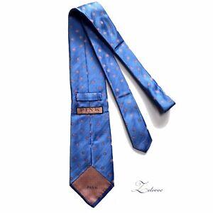 THOMAS PINK Handmade In England Blue Satin Pink w/ White Floral Tie Men's Nwot