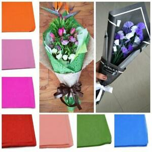 10 sheets 50*50cm Paper Bouquet Wrapping Crepe Paper Flower Christmas Gift Packi
