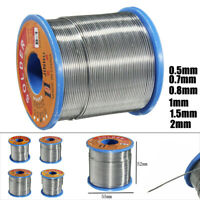 500g 60/40 Tin Lead Solder Wire Rosin Core Soldering 2% Flux Reel 0.7mm-2mm