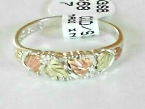 NEW Genuine Black Hills Gold and Silver Women's Band Ring Size 6-7-8 or 9 w/ Box