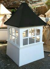 76''Hx42'W large vinyl window Cupola, Beautiful High Quality,black aluminum roof