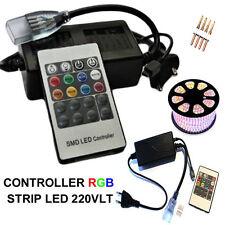 TELECOMANDO BOBINA STRISCIA STRIP LED RGB 220v DIMMER MINI CENTRALINA CONTROLLER