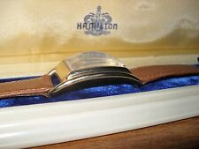 """Hamilton """"Sutton"""" Curved Lug Case... Beautiful Y.G.F. in Box..""""Very Collectable"""""""