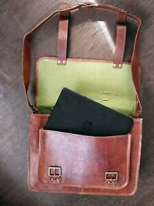 Handmade Vintage Casual Messenger Shoulder Bag Cross Body Laptop Bag Men Women