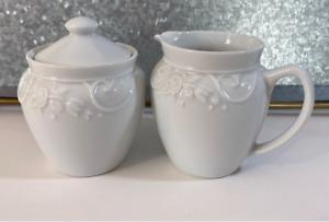 Princess House Porcelain Veranda Sugar and Creamer 177