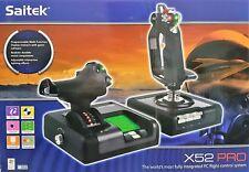Logitech Saitek x52 pro Flight Control System joystick simuladores de vuelo-nuevo & OVP