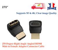 HDMI mâle vers câble connecteur femelle adaptateu 90 Degré Angle Droit 270 Angle