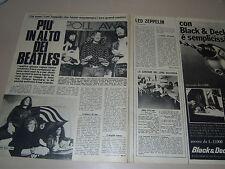 LED ZEPPELIN  band clipping articolo foto photo 1970 PIU ' IN ALTO