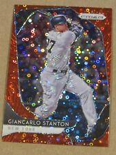 2020 PANINI PRIZM GIANCARLO STANTON RED DISCO PRIZM #16/99