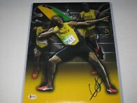 Usain Bolt Jamaica Olympic Gold Signed Autograph 11x14 PHOTO Beckett BAS COA 4