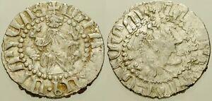 060. Armenian Silver Coin. LEVON I, AR Tram. Sis Mint. King Enthroned / Lions
