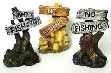 """NO FISHING Fish Tank Aquarium Ornament 3"""" Fish Tank Decoration Tropical Cold"""