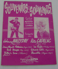 JOHNNY HALLYDAY . Partition . SOUVENIRS SOUVENIRS . (Rita Cadillac)