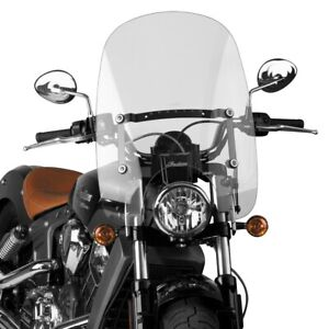 National Cycle - N21203 - Spartan Quick Release Windshield, Clear Honda,Indian,S