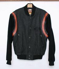 HARLEY DAVIDSON Wool & Leather Varsity Bomber Motorcycle Jacket Men's Sz. S