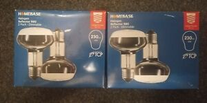 4 x Homebase Halogen Reflector R80 Light Bulbs 42W Large Screw E27/ES -Dimmable