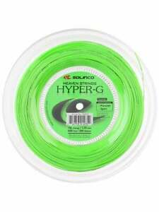 New Solinco HYPER-G 1.25mm/16L Gauge 200M Reel Power Spin Tennis String Green