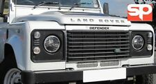 "LAND ROVER DEFENDER LED HEADLIGHT 7"" HIGH QUALITY PAIR RHD BLACK LITE TRUCK"