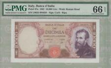 PMG 66 Italy 1962 Banknote 10000 Lire EPQ