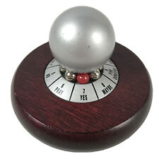 Executive Decision Maker Spinning Paperweight w/Wooden Base & Roulette Spinner