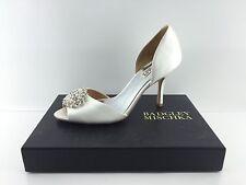 Badgley Mischka Women's Jeweled White Heels 9 M