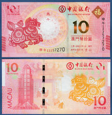 Macao BOC 10 patacas (2014) unc p. New
