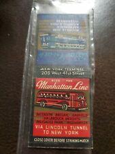 Vintage Bus Transportation Matchbook Cover Manhattan Transit Line