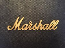 Gold Amplifier Badge Emblem Guitar Amp Cab Logo Sign For Marshall (Small)