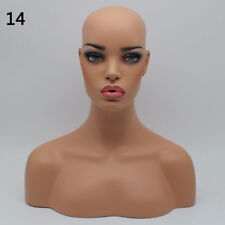 New Realistic Mannequin Head Display Fiberglass Hat Glasses Mold Stand Wig NO.14