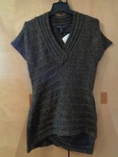 NEW WITH TAGS- US SWEATERS- BROWN KNIT SHORT SLEEVE  SIZE WOMAN'S/TEEN MEDIUM