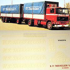 VOLVO H.P.Traoré - cm Broste DANEMARK 1:87 CAMION Autocollant Stickers