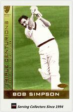 2004-05 Cricket Australia Trading Cards TRIPLE CENTURION TC5: BOB SIMPSON