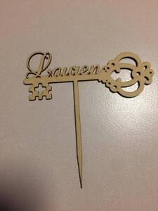 21st Key cake topper can be custom made with or without a name