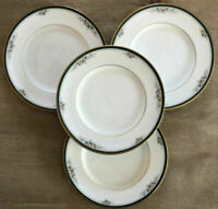 "Noritake LANDON 8-1/4"" Salad Plates Philippines 4111 Set of 4 EUC"