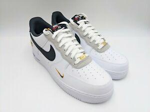 Nike Air Force 1 '07 LV8 Jr. & Sr. White Black Lyon Blue DJ5192-100 Mens Size 12