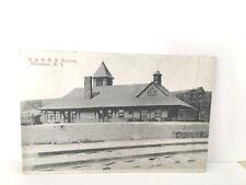 WHITEHALL, New York  NY    D. & H. STATION  Railroad Depot  Postcard