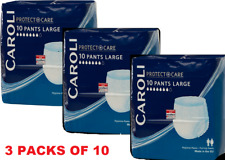 6x Caroli Incontinence Hygiene 10 Pants Unisex Large Underwear Pull up Pants