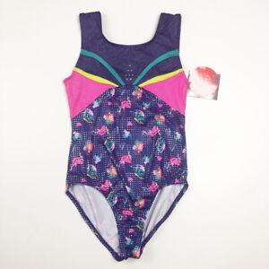 Freestyle Girls 10 12 Purple Pink Gymnastics Leotard NEW